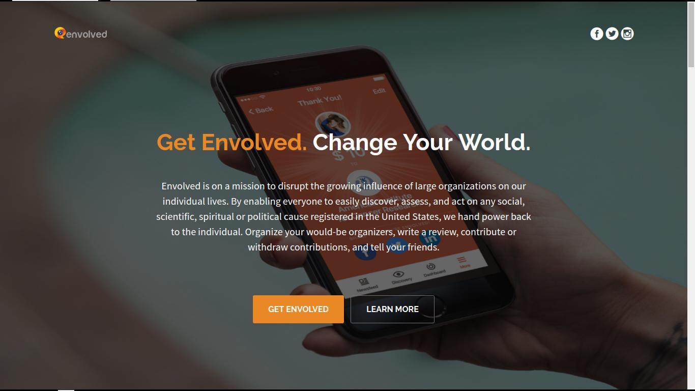 Envolved | Social Platform