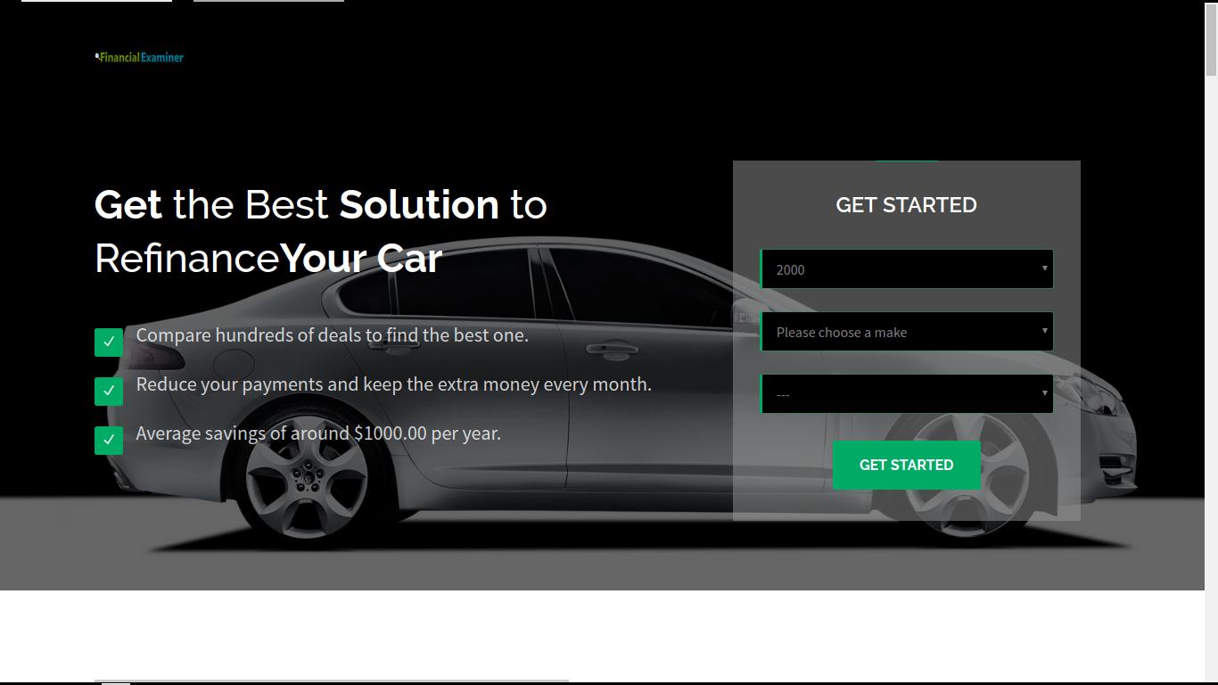 Financial Examiner   Car Refinance